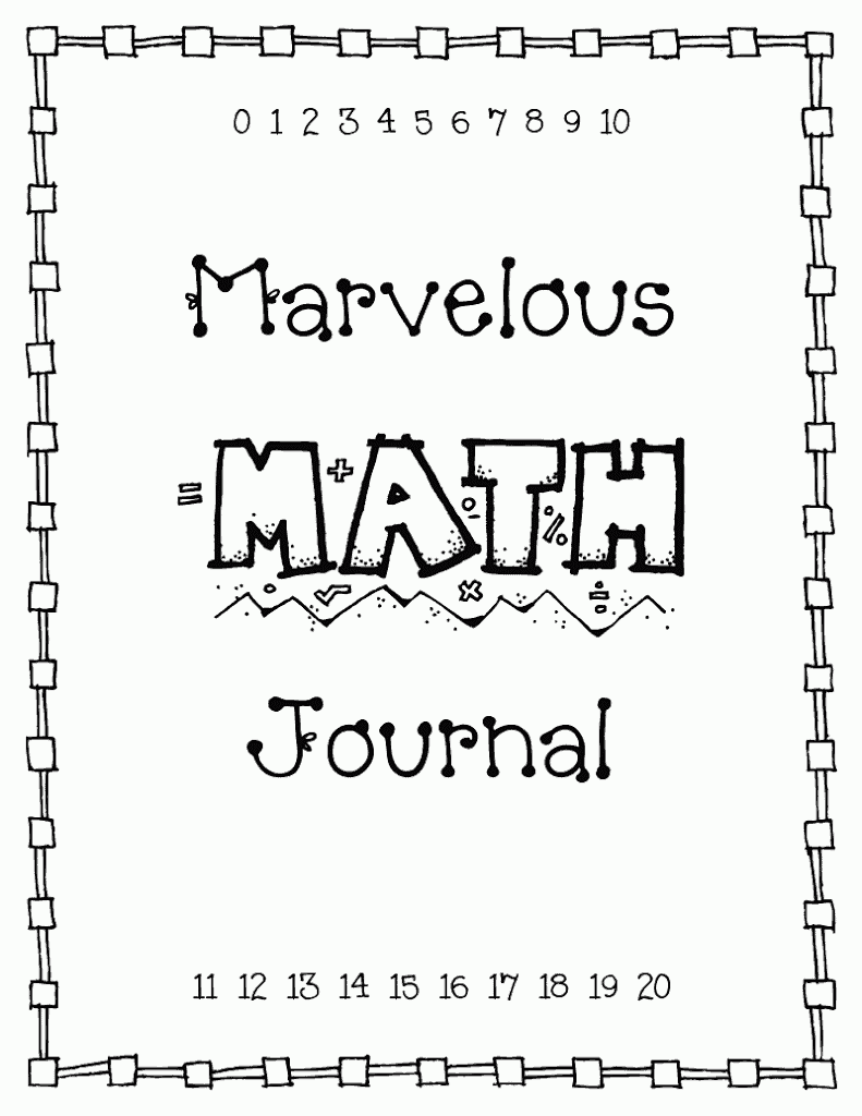 math cover page
