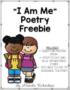 Great poem to use at the beginning of the year for kindergarten shared reading! This post also talks about implementing shared reading in your classroom.