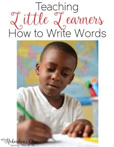 Teaching writing words is simple with these steps!