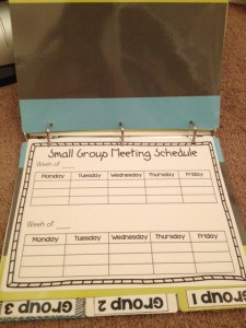 This guided math binder has everything you need to get our groups organized!