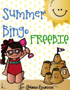 Grab this summer BINGO FREEBIE to use in your kindergarten, first grade, or second grade classroom. It's the perfect activity for the end of the year!