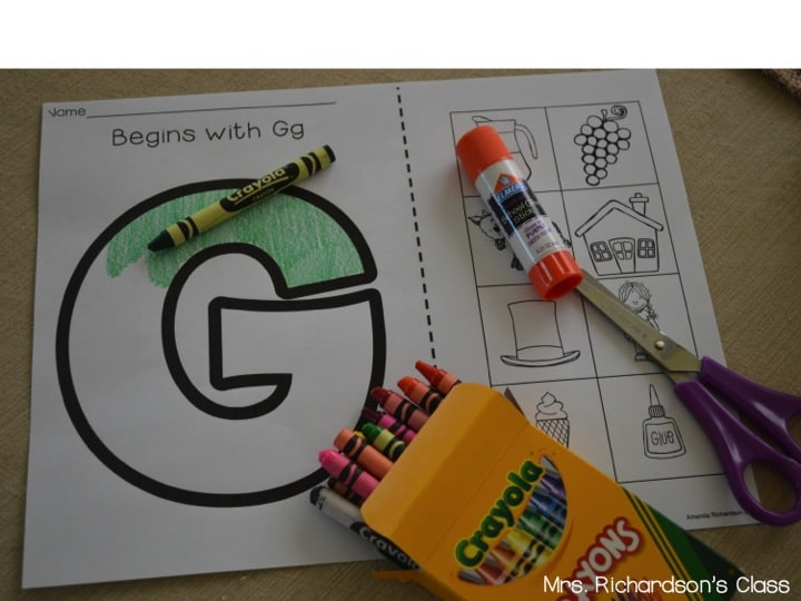 Simple Cut And Paste Activities For Beginning Sounds Mrs