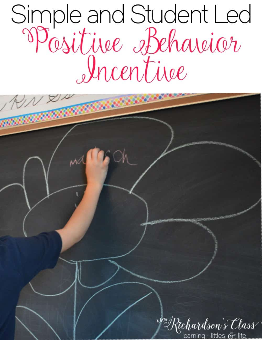 This positive behavior reinforcement costs you nothing is the perfect way to have students take ownership of their behavior. This simple classroom management tip doesn't even need a printable! #classroommanagement #behaviormanagement #positivereinforcement #free #classroomteacher