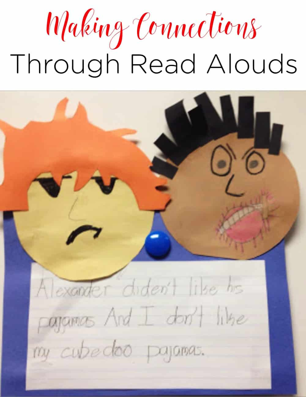 Making connections is one of the first skills I teach. Using interactive read alouds to do this is the perfect opportunity to engage learners and get them thinking! #Literacy #FirstGrade