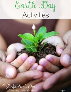 Earth day activities that are perfect for kindergarten and first graders! Love the sentence activity!