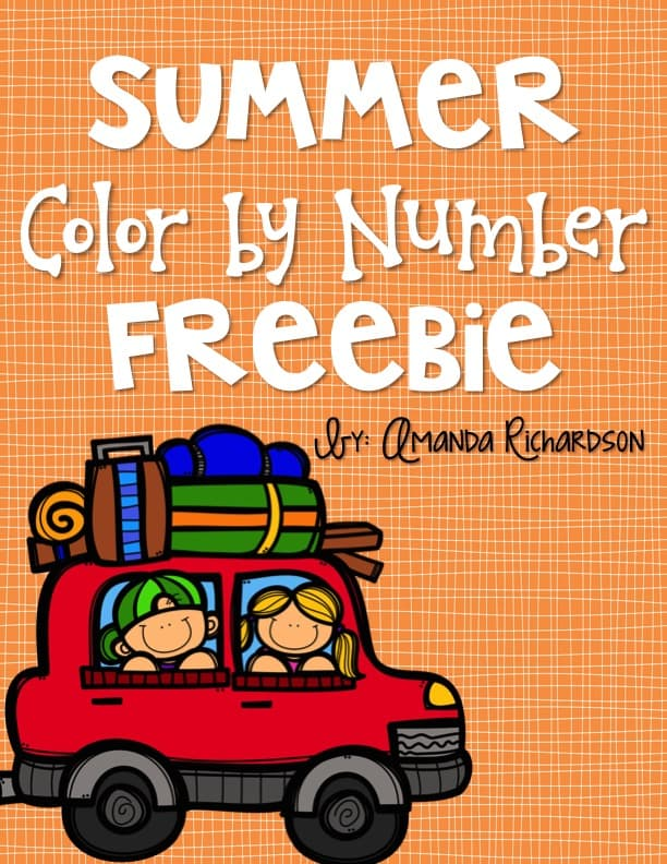 Summer color by number is a fun activity for early finishers! It keeps them busy when they finish our end of year activities and projects!