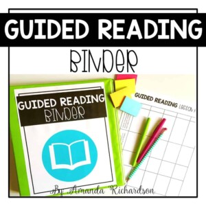 Guided reading binder that is sure to keep your groups and lesson organized!