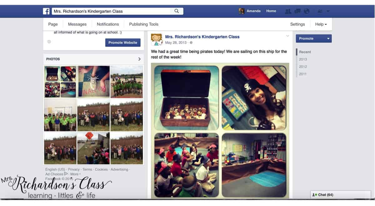 Class Facebook Page