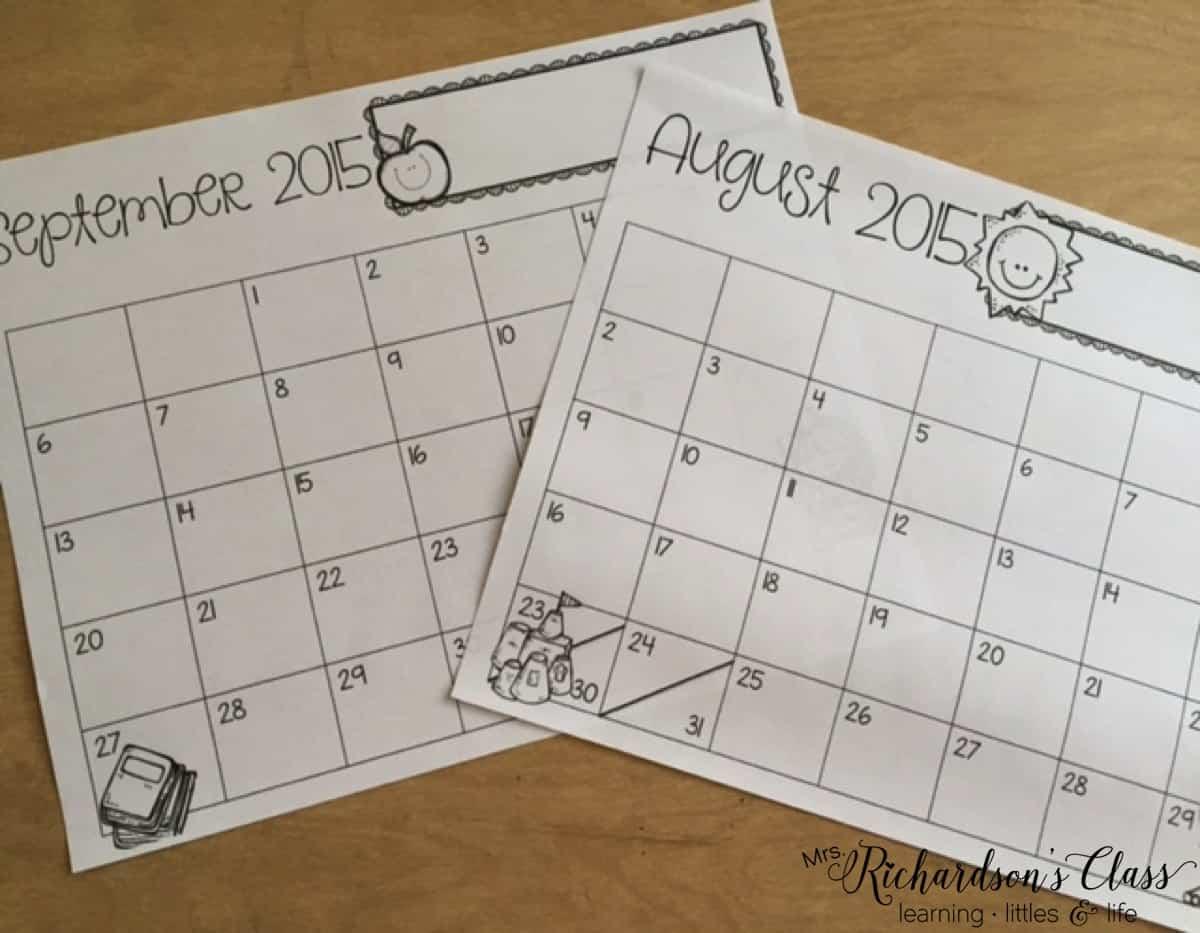 Editable Calendar and Newsletter Templates