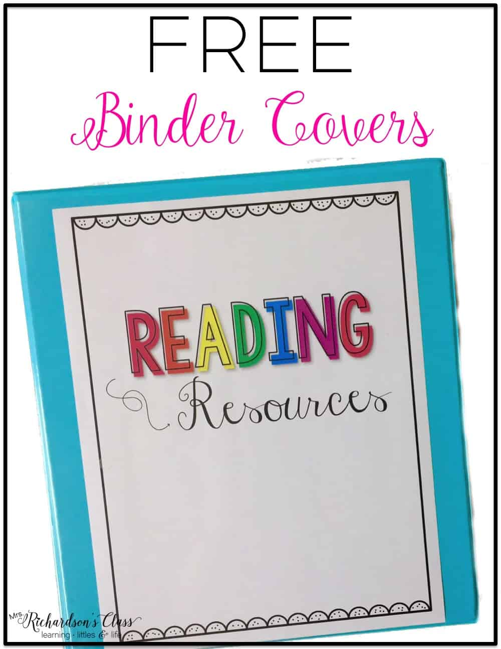 Some FREE binder covers and spine labels to help keep classroom organization under control. These printables are both cute and functional! #classroomorganization #elementary #middle #free #printables