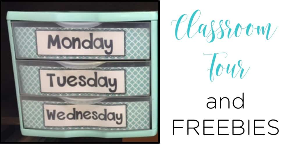 Teal and white classroom freebies that will help you get organized and be set for the year!