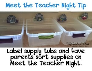 Meet the Teacher Night Tips