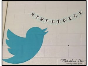 This Tweetdeck in a teal and white classroom is perfect for students to display their learning or any questions they might have about topics! Also it is perfect for classroom shout outs!