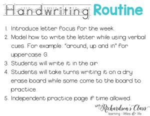 Handwriting Routine