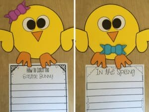 Chick Writing Craftivity that is perfect for spring writing! This writing craft doubles as a writing assessment, too!
