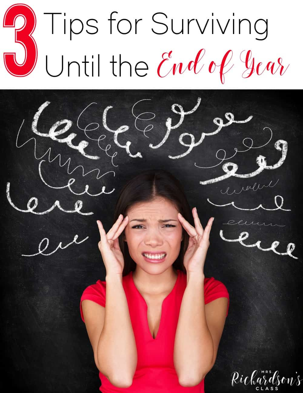 Sometimes the end of the year makes you want to pull your hair out! These 3 tips are just what you need to make it through!