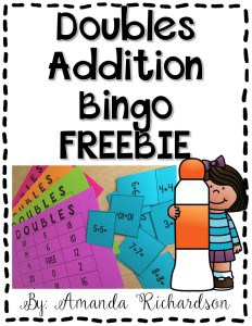 Doubles Addition Bingo FREEBIE