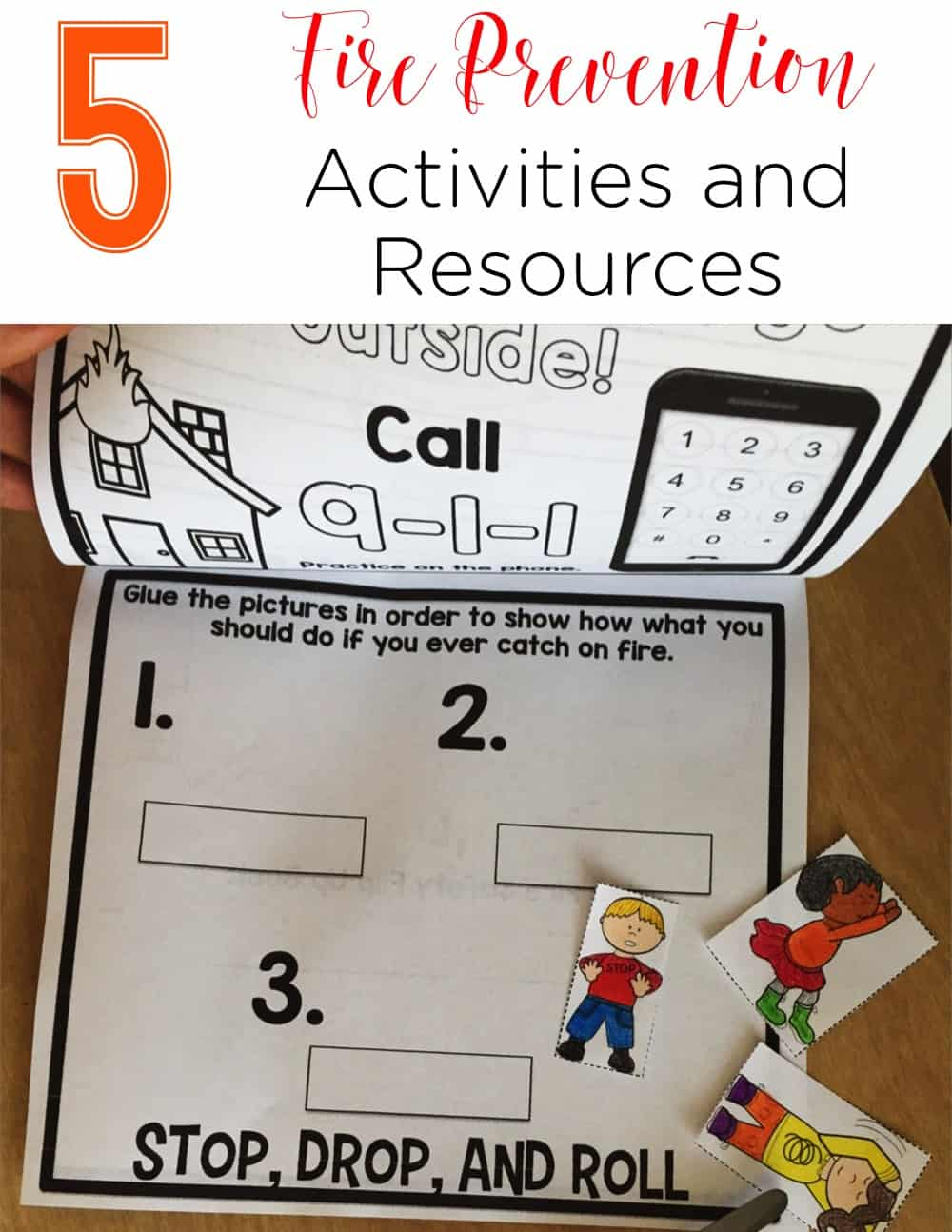 Fire Prevention Week Resources that are perfect for K-2 students. These activities range from books, to printables, to crafts, and to visuals to share! The third idea looks awesome! #firepreventionweek #kindergarten #firstgrade #secondgrade #activities #lessonideas #printables