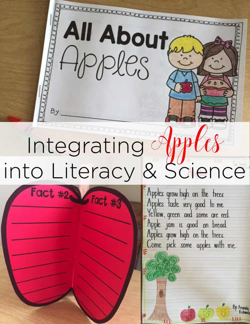 Integrating Apples into science, reading, and writing is not only simple, but engaging! It's the perfect way to hook your little learners! #appleunit #appleideas #appleactivities #kindergarten #firstgrade #homeschool