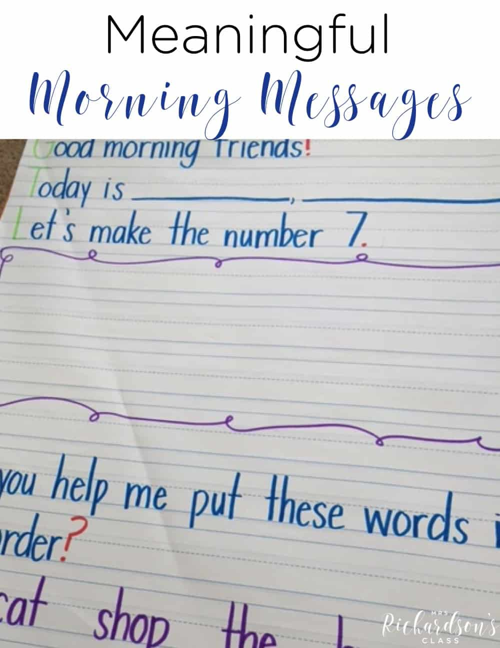 3 tips for meaningful morning messages that are simple to implement!