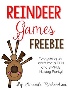 Reindeer Holiday Party FREEBIE