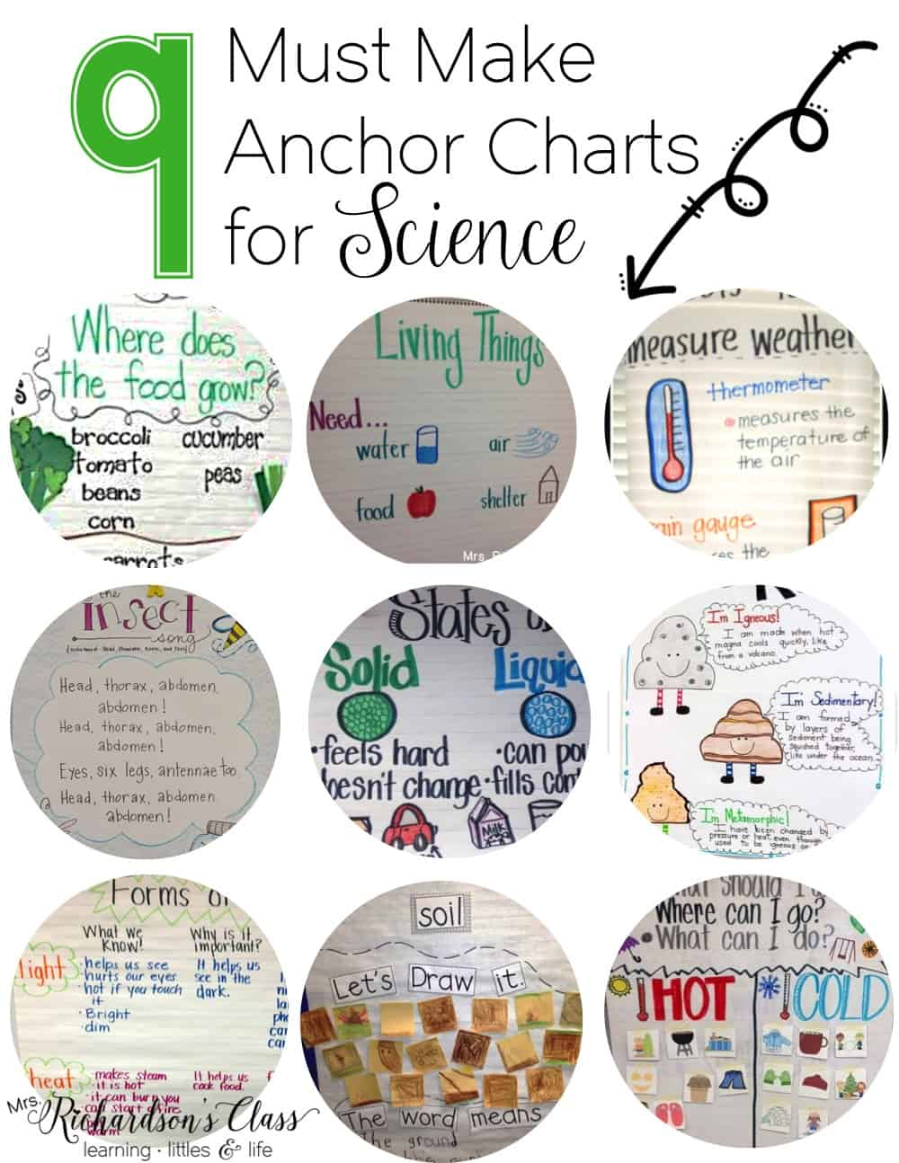 These 9 Must Make Anchor Charts For Science Are Easy To Recreate Students In Kindergarten