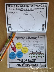 George Washington Activities for First Grade, engaging and easily integrated