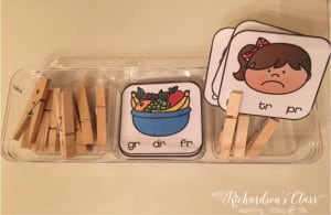 Use clothespins in workstations to let students work on fine motor skills