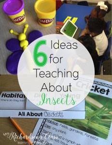 These 6 activities to help teach insects will engage students from preschool, kindergarten, and first grade. Reach all different types of learners and integrate science into reading and writing! #insects #kindergarten #firstgrade #scienceforkids #activities