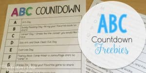 ABC Countdown is a FAVORITE for my kids at the end of year! Snag these freebies and be set!