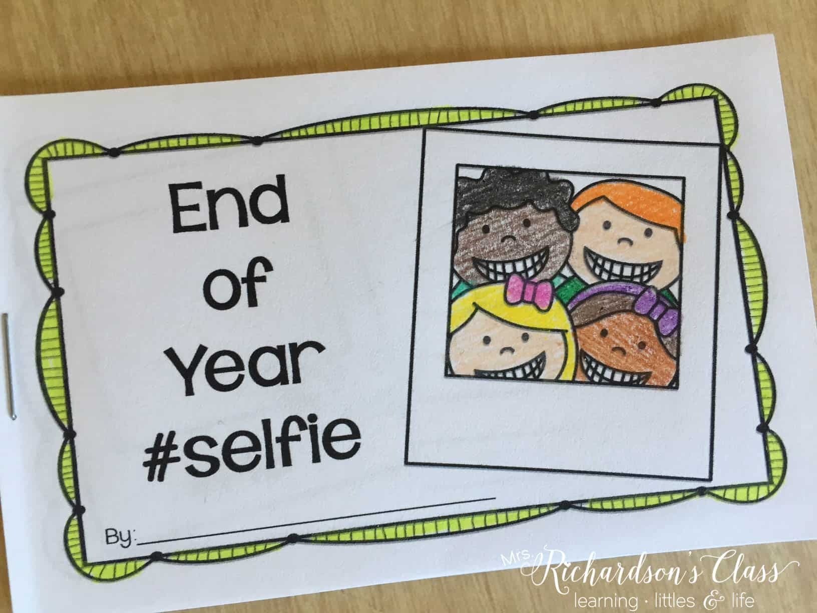 End of the year memory book for students to enjoy reflecting on the school year! They draw a selfie on each page as they take a walk down memory lane!