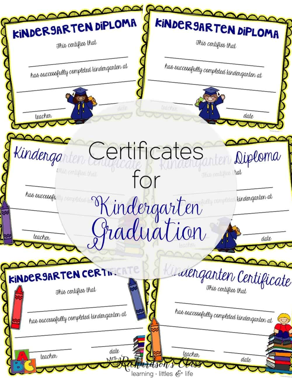 Make kindergarden graduation simple with these editable graduation diplomas and certificates.