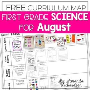 If planning for science is on the back burner, know that it doesn't have to be! You can grab this FREE curriculum map for August and it has all the details you need to be set for science, close reading, shared reading, and phonics!