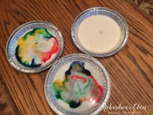Science experiments for little learners that are perfect for science stations or whole group. This science experiment with dancing milk is so much fun for the students!