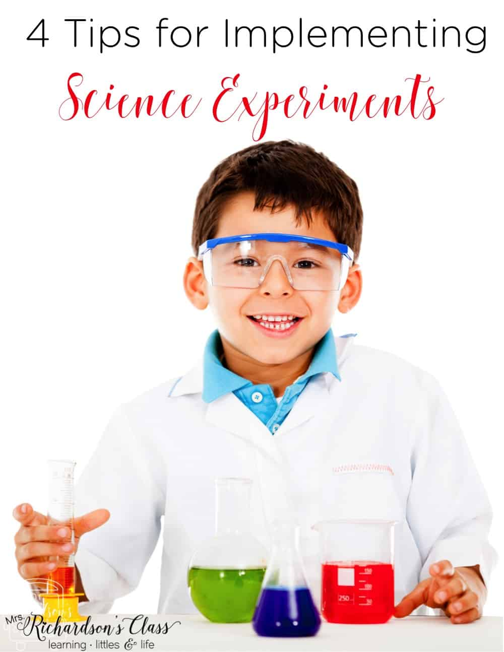 Implementing science experiments doesn't have to be hard. These tips are great reminders for science experiments with kindergarten and first graders! #scienceexperiments #elementary #homeschoollife #scienceideas #classroomscience