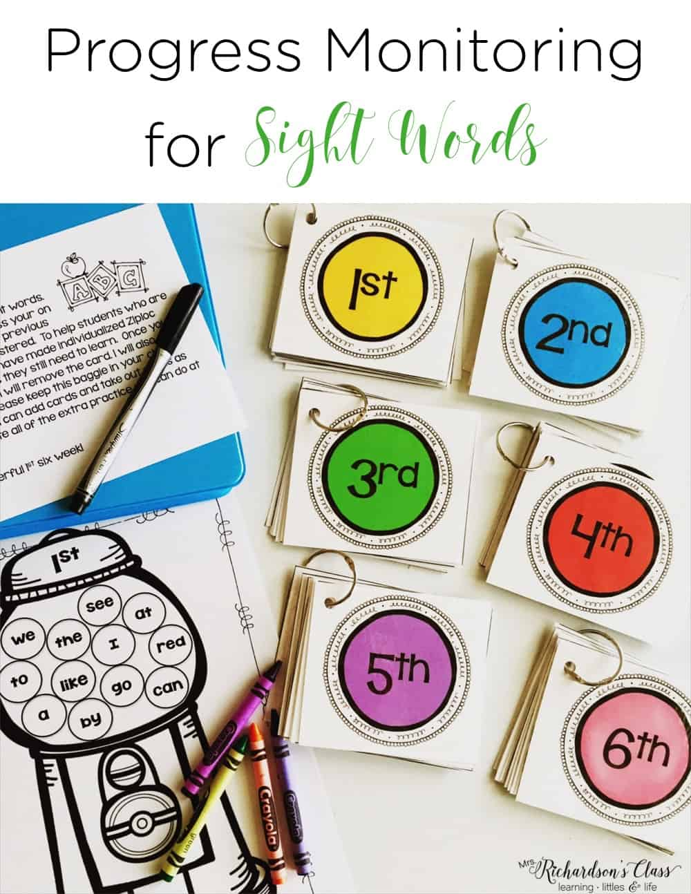 Sight word data tracking doesn't have to be tricky! See how this teacher made it easy for herself and engaging for students. Don't forget to grab the FREEBIE! #SightWords #WordWork