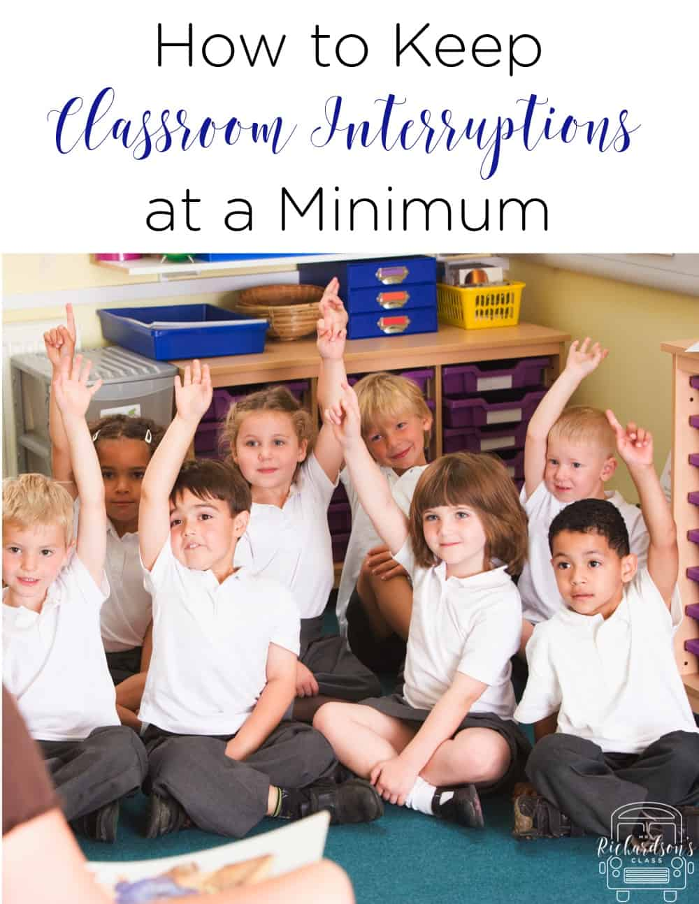 Keep classroom interruptions at a minimum with this 1 simple trick! It's memorable for the students and they love that it's a little silly! #classroommanagement #elementary #behaviormanagement #classroominteruptions