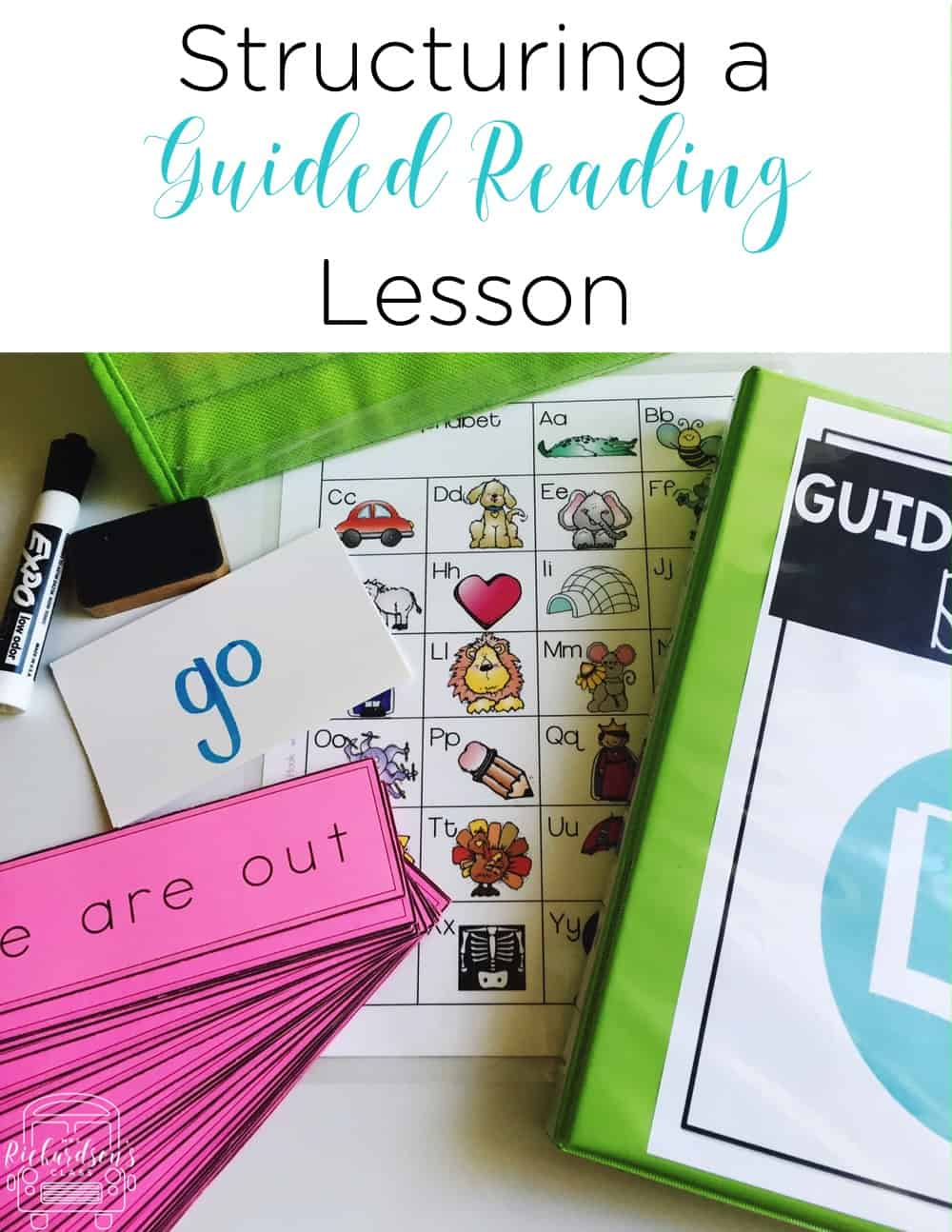 Structuring a guided reading lesson is made simple as this teacher breaks down her time and shares each piece of her guided reading lesson.