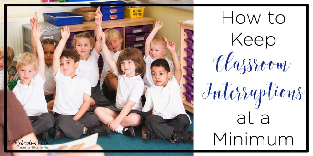 Keep classroom interruptions at a minimum with this 1 simple trick! It's memorable for the students and they love that it's a little silly!