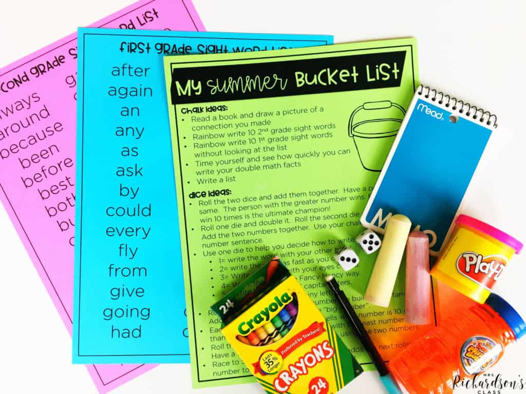 Create a simple, end of year bucket list to help students stay actively engaged in learning throughout the summer!