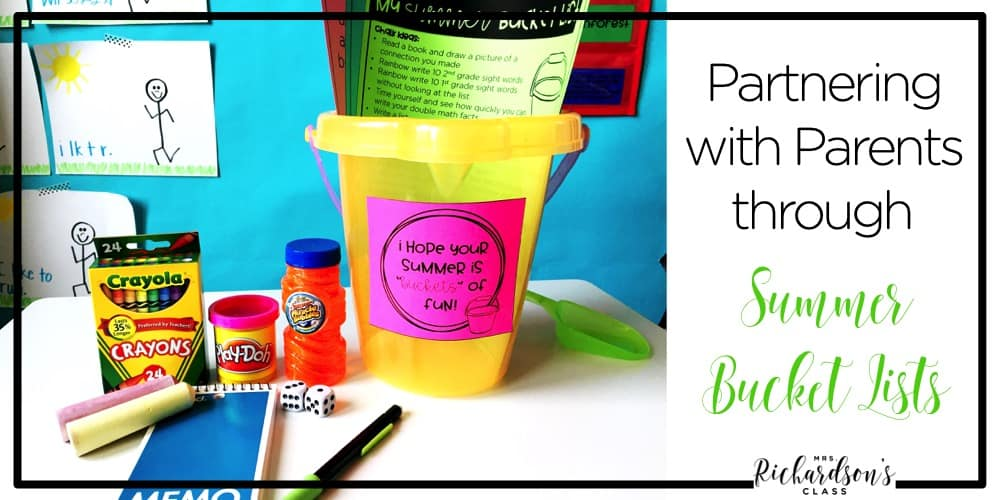 Partnering with parents is important as teachers! This end of year bucket list FREEBIE is great to help parents support what happened in the classroom throughout the summer!