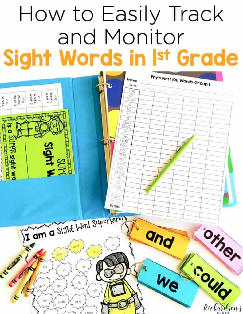 How to Easily Monitor & Track Sight Words in First Grade