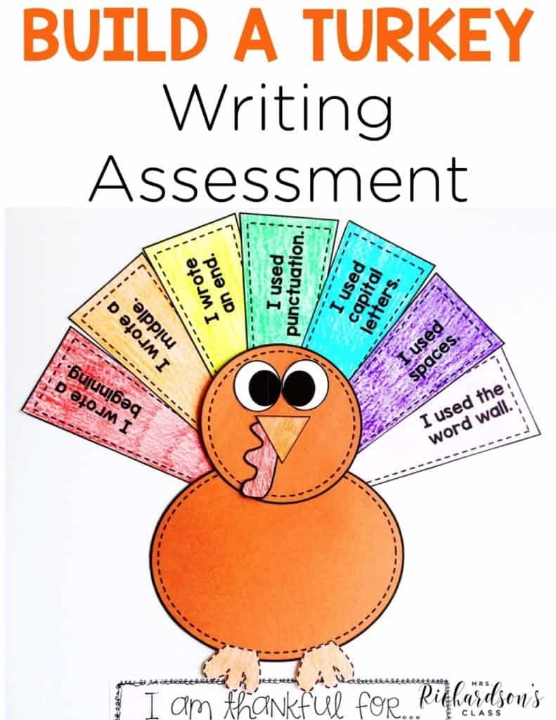 Build-a-Turkey Writing Assessment