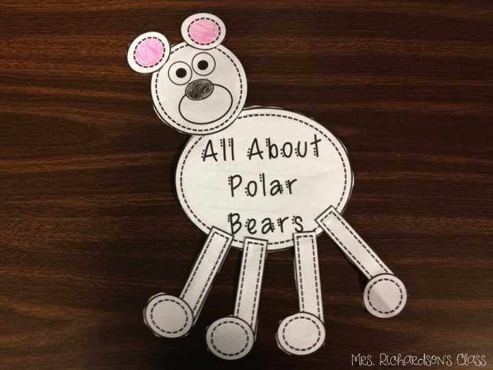 Arctic Animal research is always so much fun for kindergarten and first grade students. Grab this FREE polar bear craft and have your students write about facts they have learned.