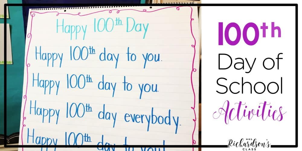 Be set for the 100th day of school with these 100th day of school activites! Grab the FREE resources that are perfect for kindergarten and first grade students!