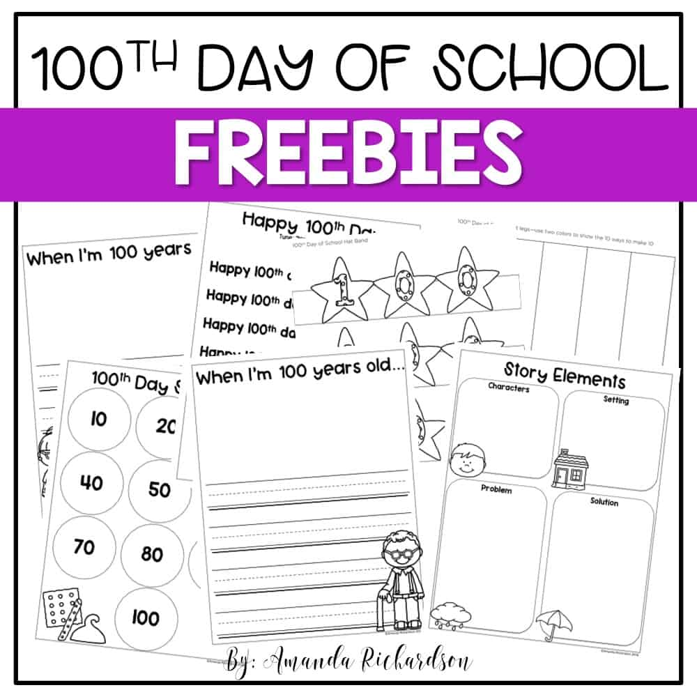 100th day of school activities that are great for kindergarten and first grade!