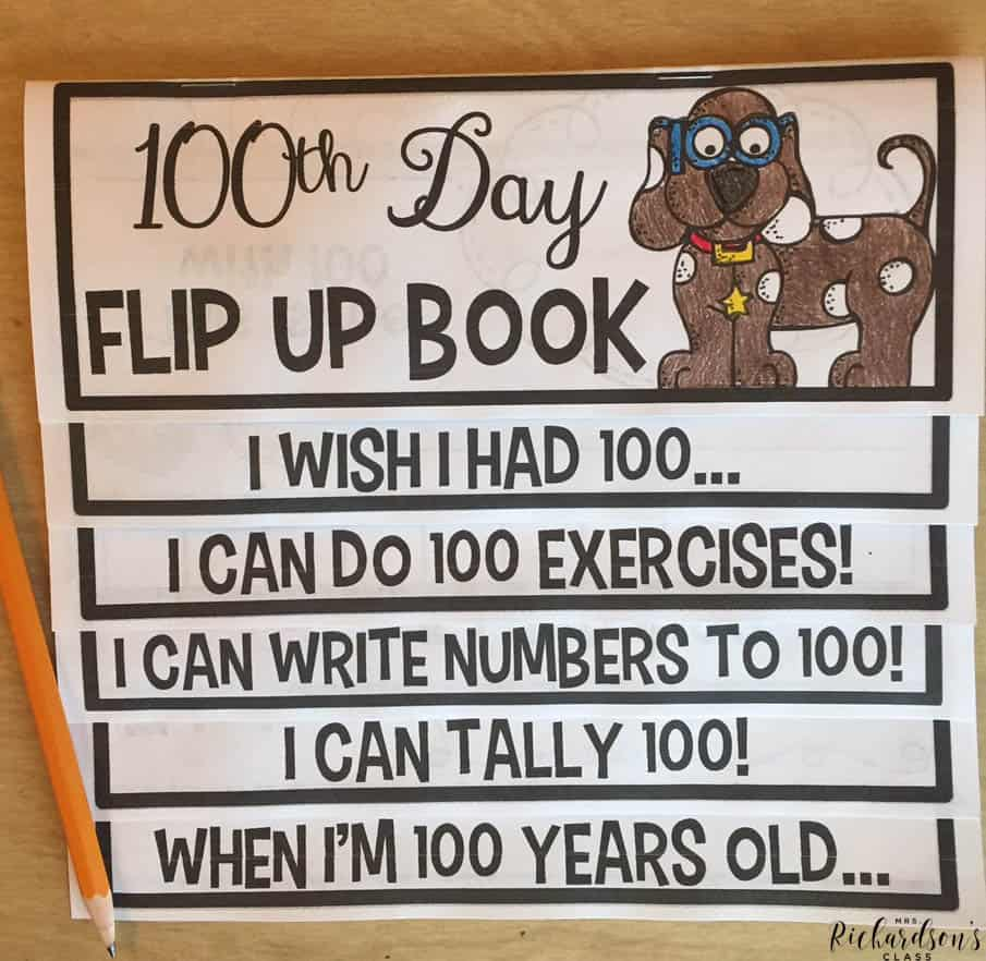 Be set for the 100th day of school with this all in one flip book! All of your favorite 100th day activities rolled into one place!