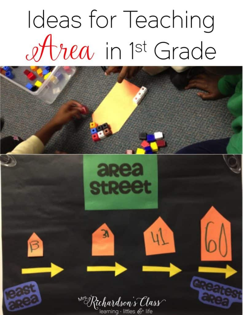 Area activities for first grade that were a hit with my students! They loved measuring and order with this fun idea!