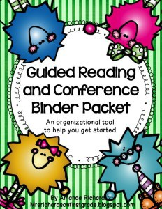 An organized guided reading binder is the important for the success of guided reading groups. See how to keep student data together, organize groups, and manage conferences all in one place! #guidedreading #balancedliteracy