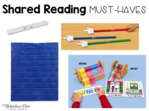 Great tools to use for shared reading! I also love the weekly teaching guided she shares. It makes shared reading a breeze to implement!